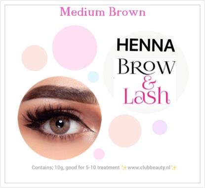 Afbeeldingen van Henna Lash & Brow (medium bruin)