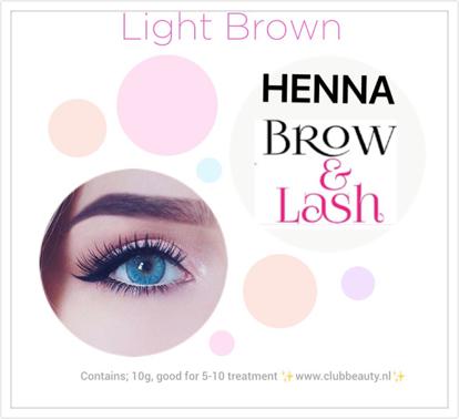 Afbeeldingen van Henna Lash & brows  Licht bruin.