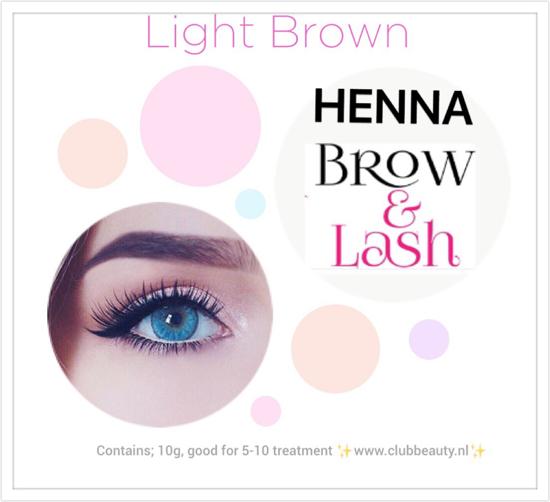 Afbeelding van Henna Lash & brows  Licht bruin.