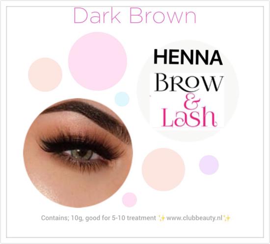 Afbeelding van Henna Lash & brows  ( Donker Bruin)