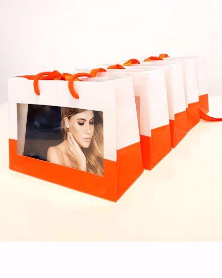 Afbeelding van Geschenk tassen en cadeautasjes, (Oranje  )direct uit voorraad leverbaar